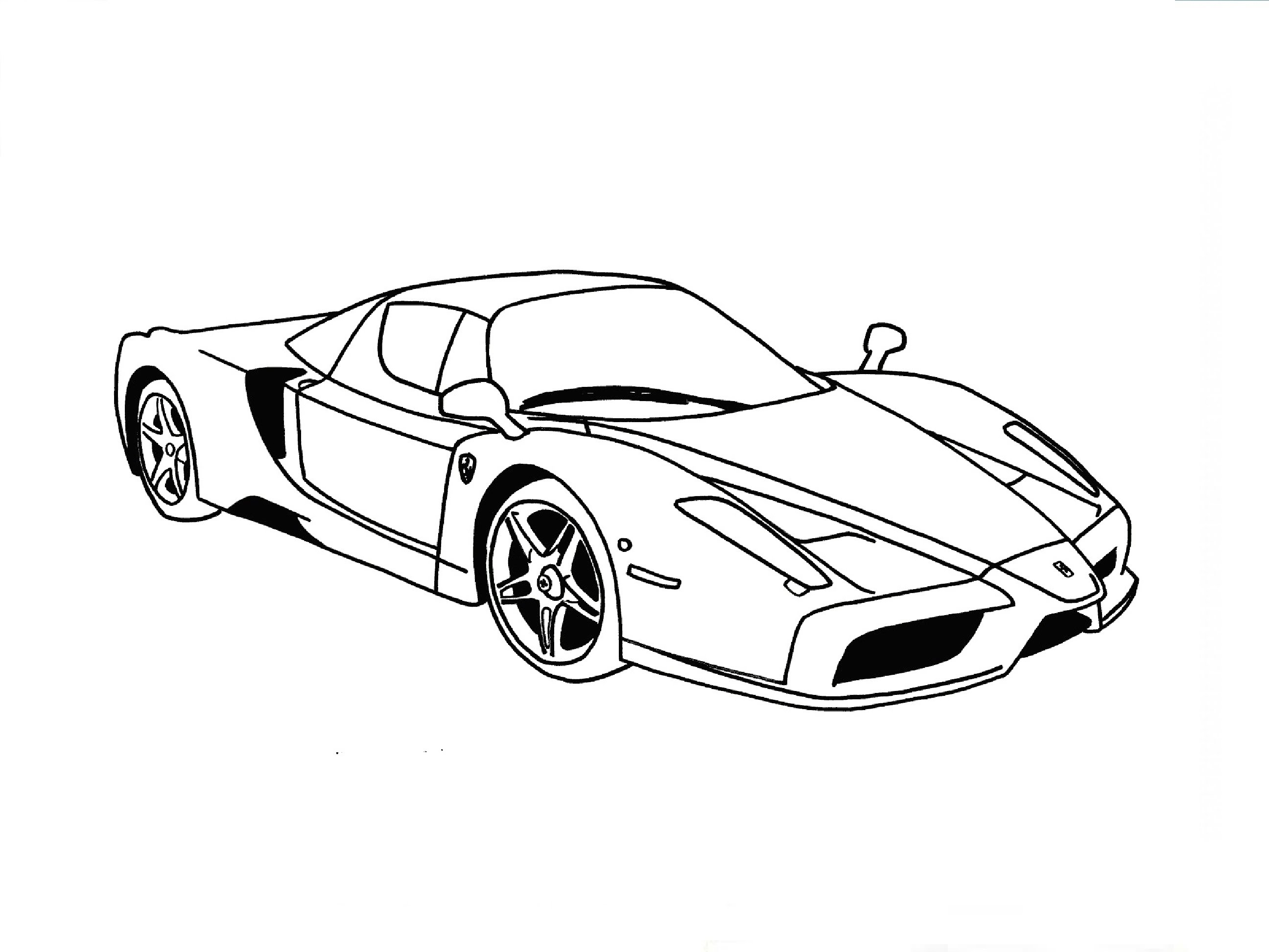 2592x1944 Speed Drawing Ferrari Enzo