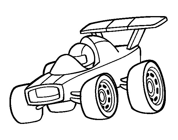 600x470 Fast Car Coloring Page