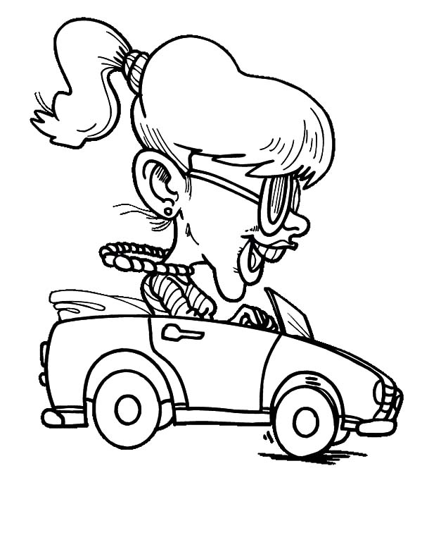 600x776 Girl Driving Car Fast Coloring Pages Best Place To Color