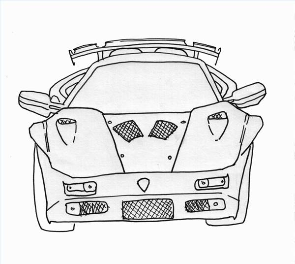 600x536 How To Draw Lamborghinis