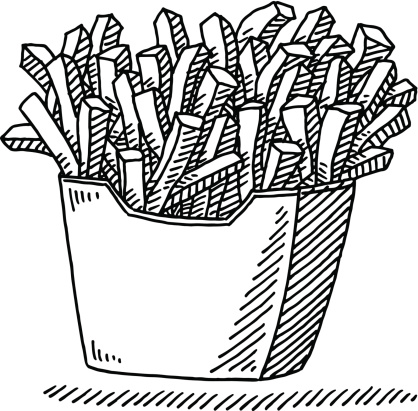 418x411 French Fries Fast Food Drawing Clip Art French