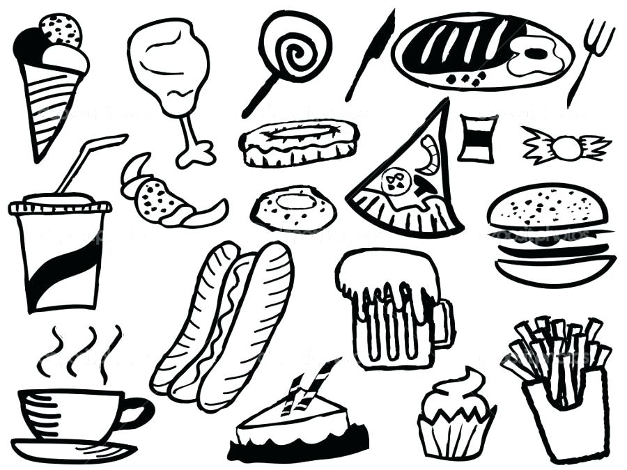 900x675 Fast Food Coloring Pages Food Coloring Pages 4 Fast Food Coloring