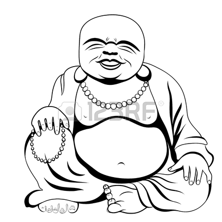 Fat Buddha Drawing