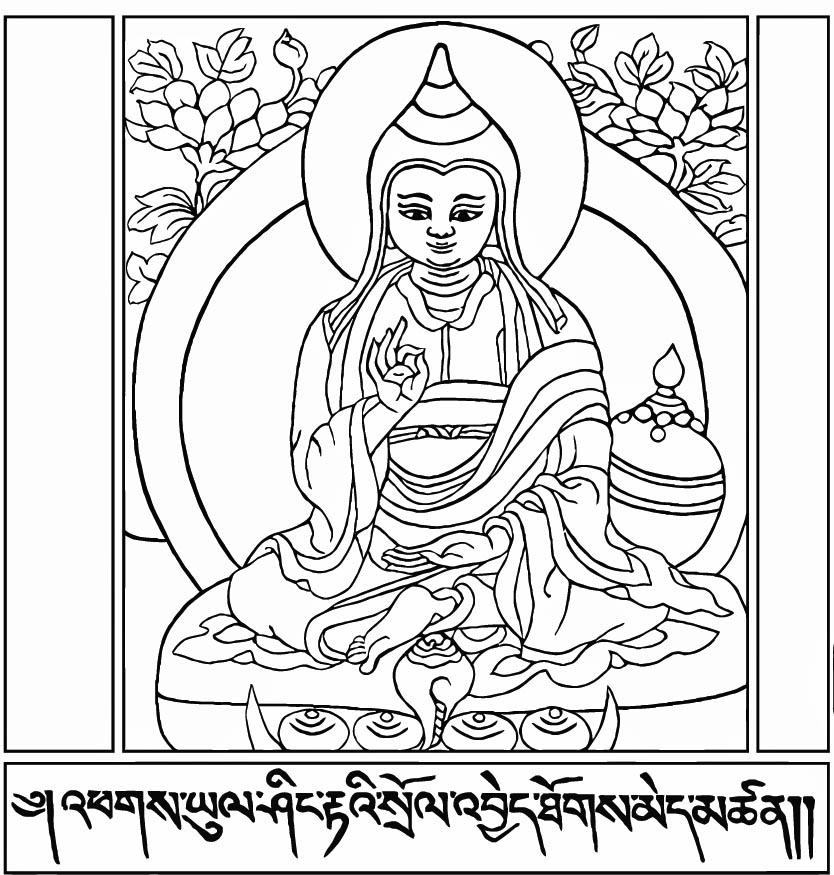 834x875 Buddhist Coloring Pages 554209