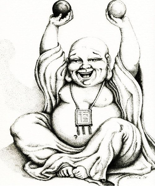 500x602 Fat Buddha Drawings Tattoo Pictures To Pin