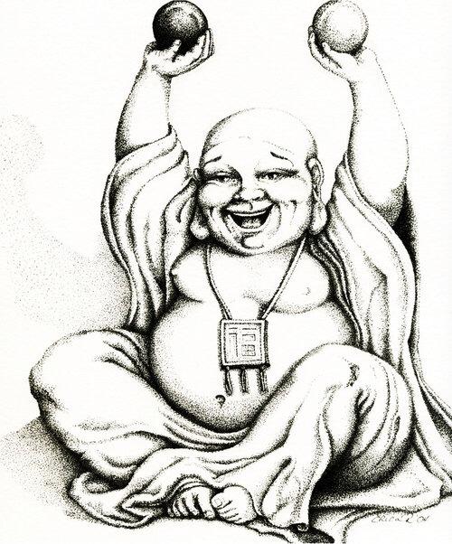 500x602 Buddha Drawings Buddha, Tattoo And Tatting