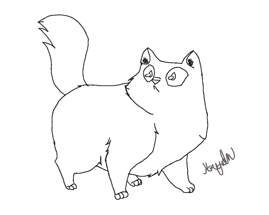 540x432 Fat Cat (Sketch) By Deathmakesmesmile