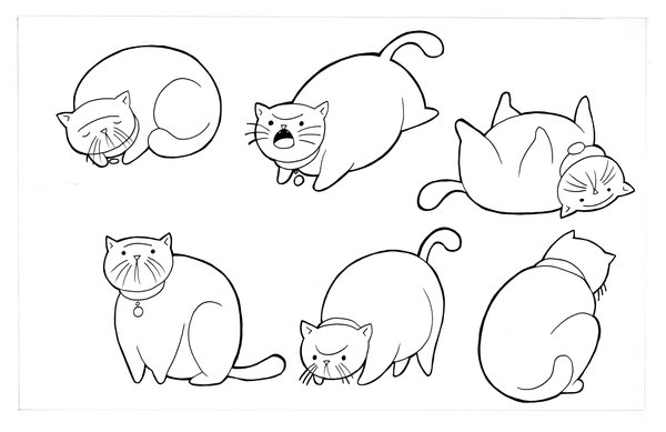 600x389 Fat Cat Actions By Vtheman Character Design