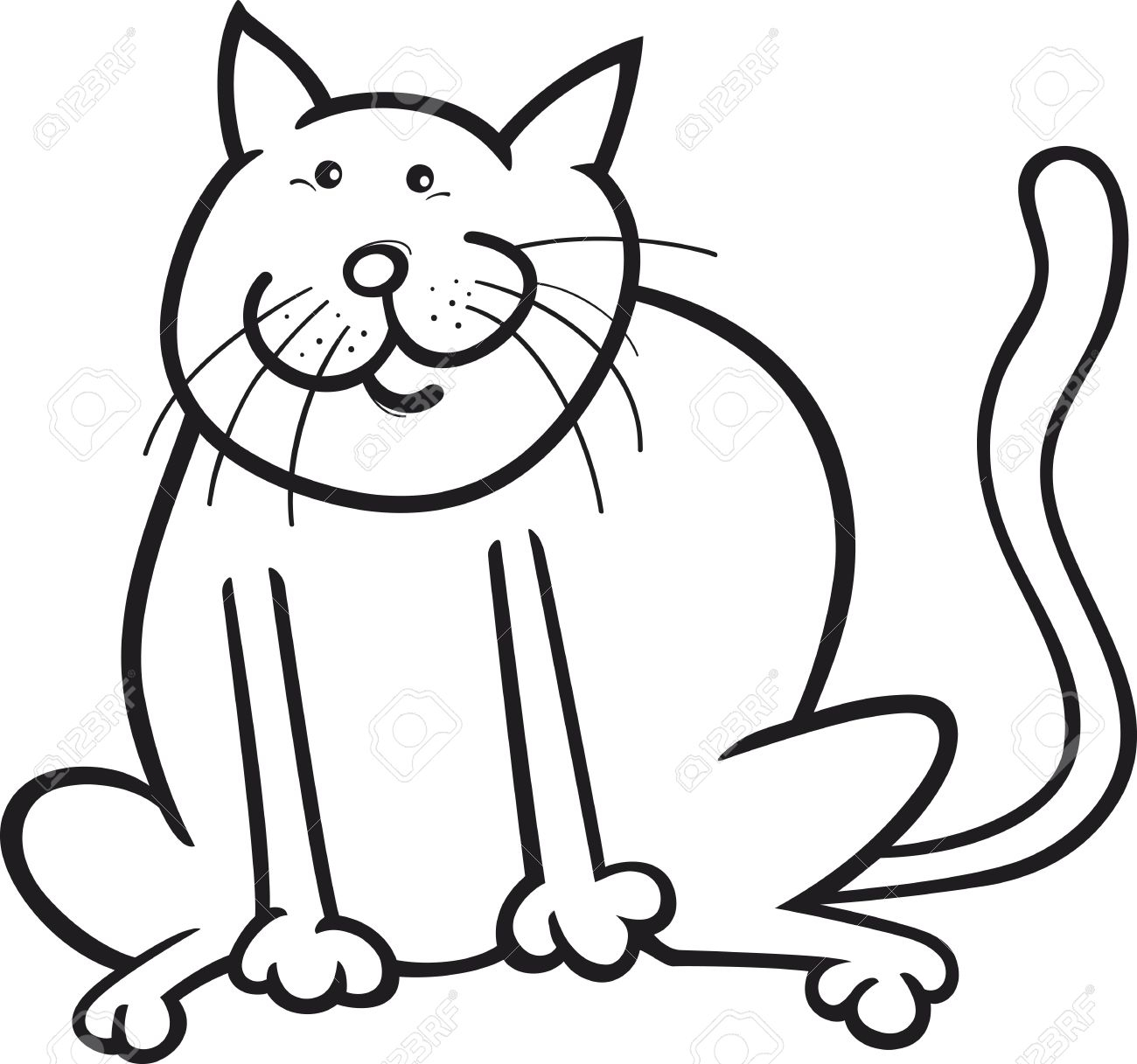 1300x1217 Fat Cat Clipart Group 63
