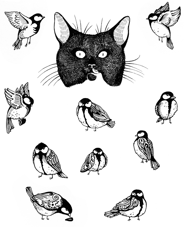 600x743 Fat Cat Wants Fat Birds On Behance