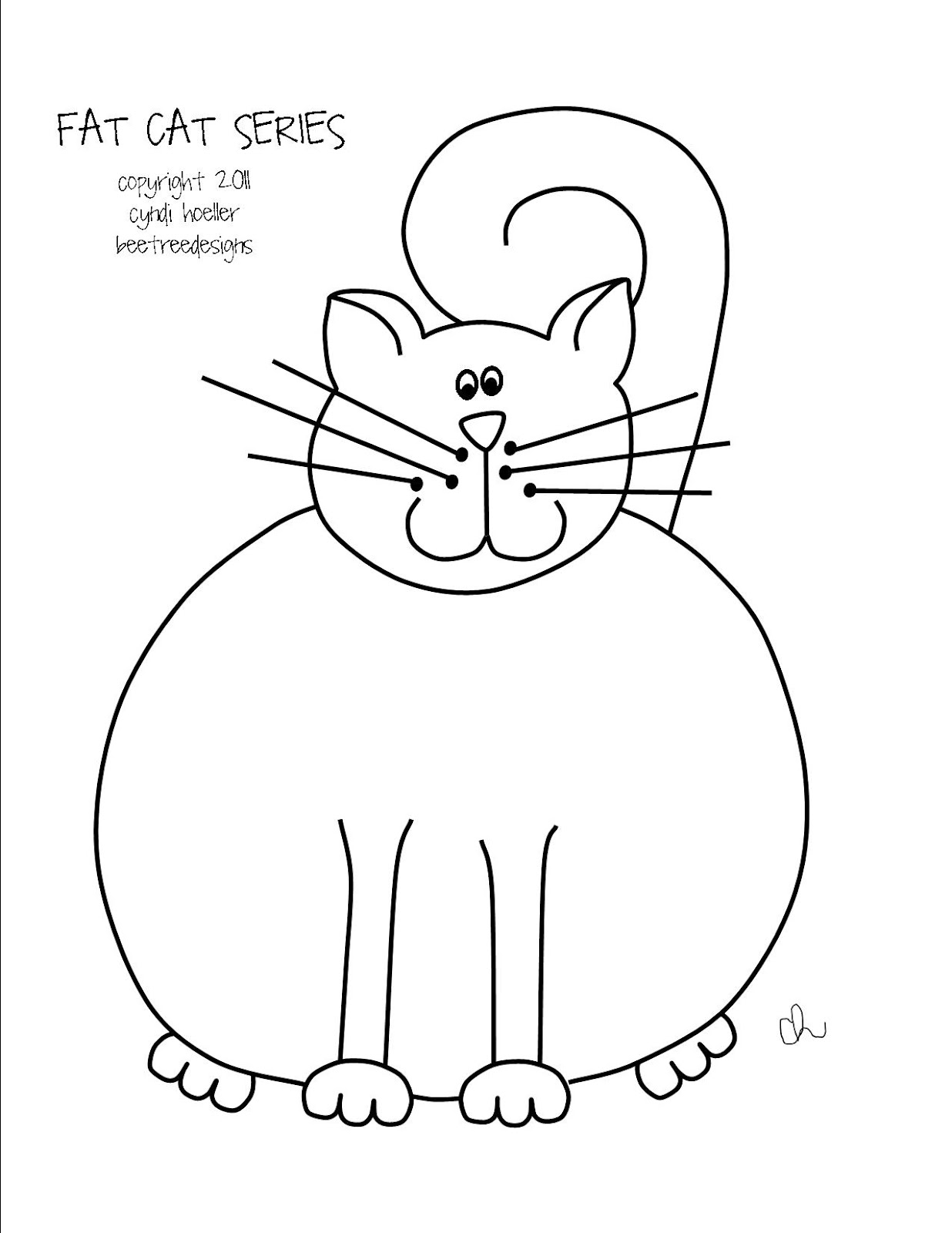 1236x1600 Stitch, Stitch, Stitch Freebie Fat Cat