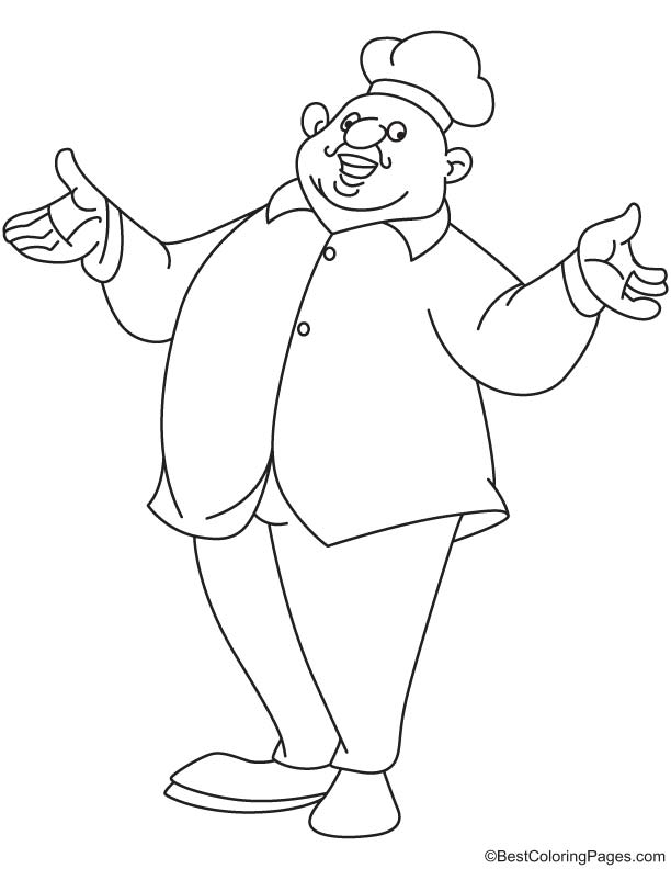 612x792 Fat Chef Coloring Page Download Free Fat Chef Coloring Page