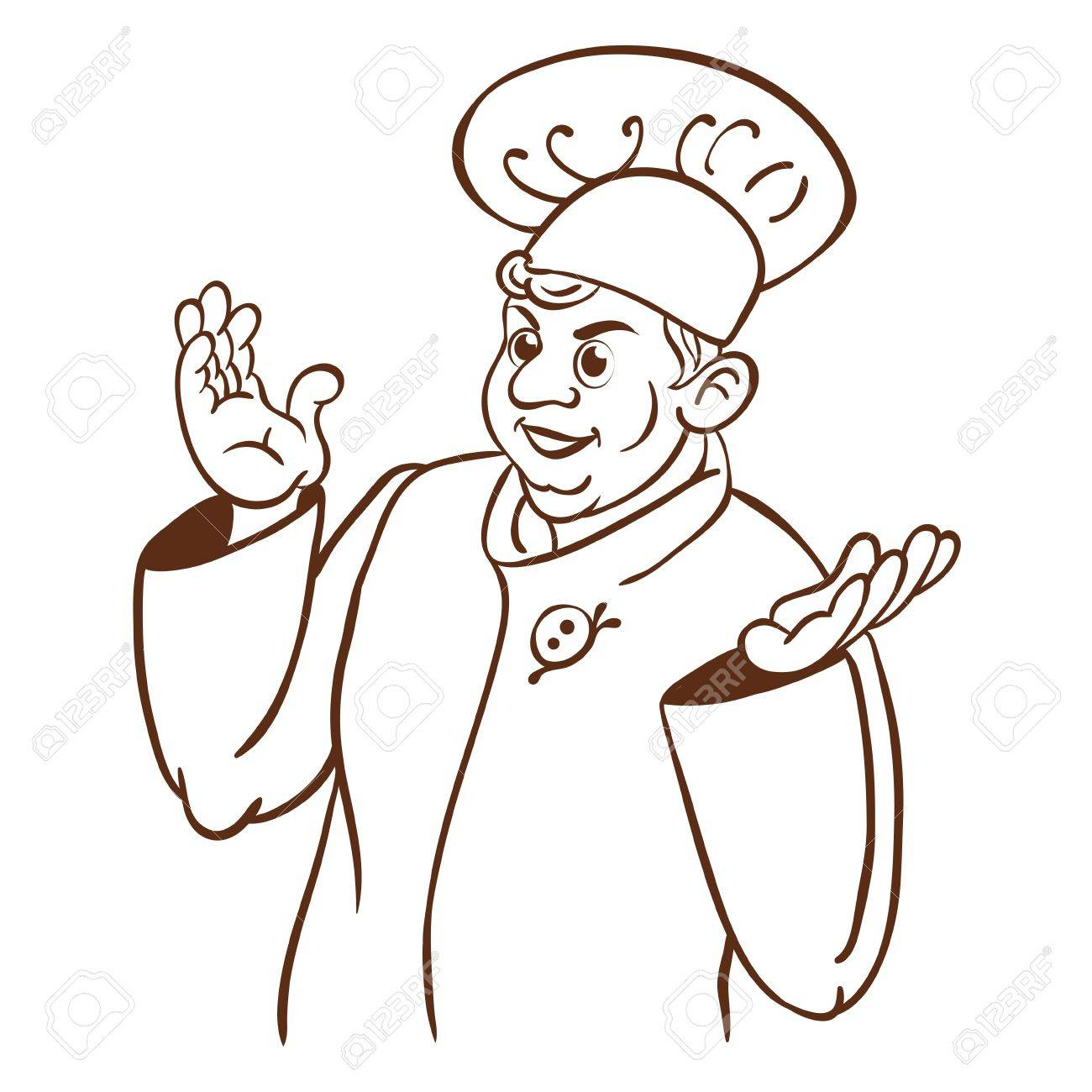 1300x1300 Chef Cook Cartoon Hand Drawing Character Royalty Free Cliparts