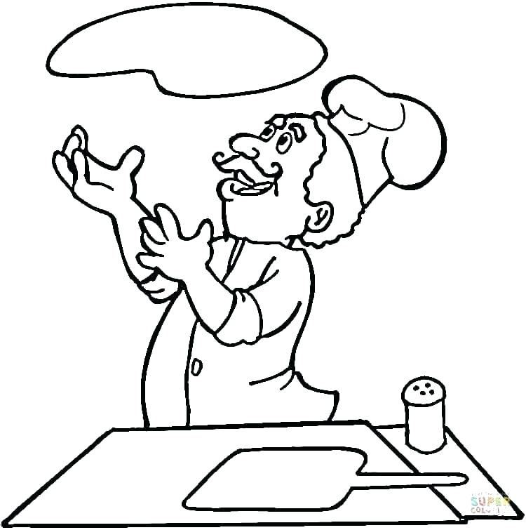 750x755 Trend Pizza Coloring Pages Fee Chef Page And Fat Ranch Co
