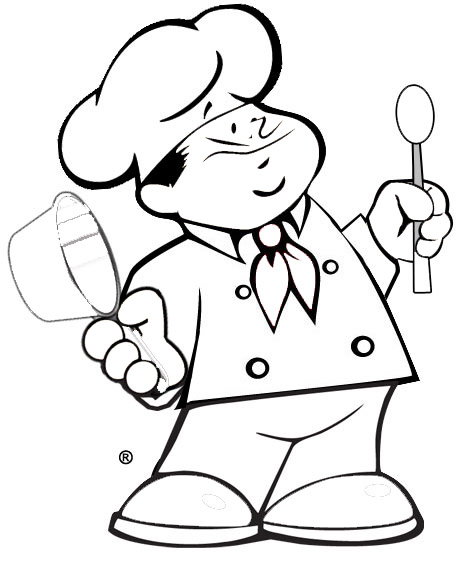 471x580 Chef Coloring Pages Free Printable