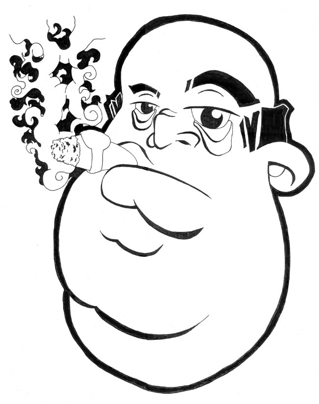 650x824 A Fat Guy Smoking Cigar By Peh