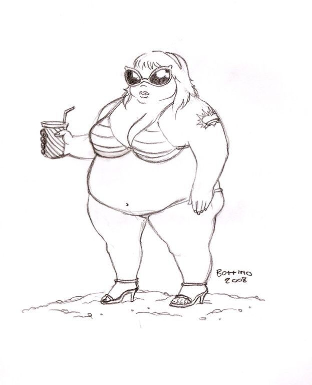 Fat Lady Drawing
