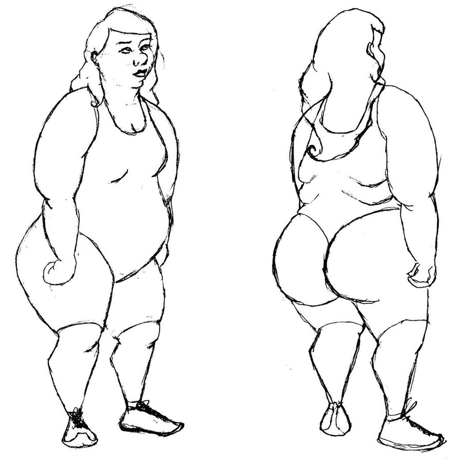 883x904 Body Types Fat Woman By Miss Deadly Kate