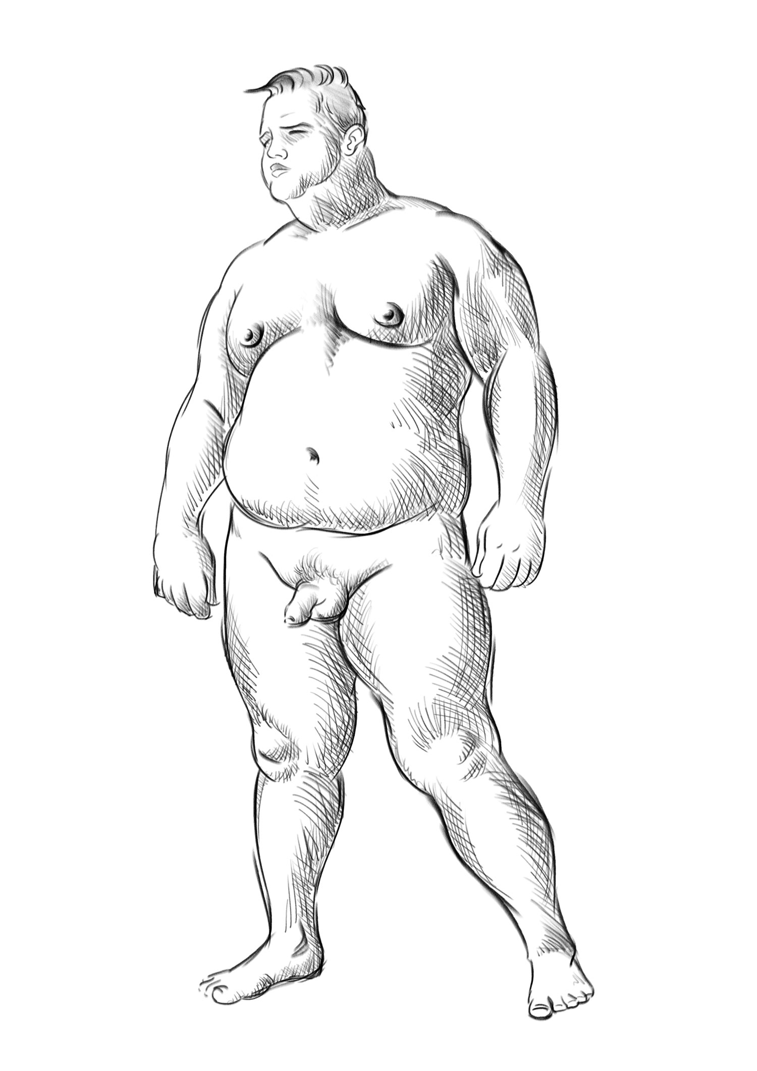 Fat Person Drawing