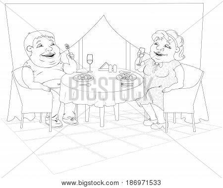 450x379 Fat Woman Polka Dot Dress Fat Man Vector Amp Photo Bigstock