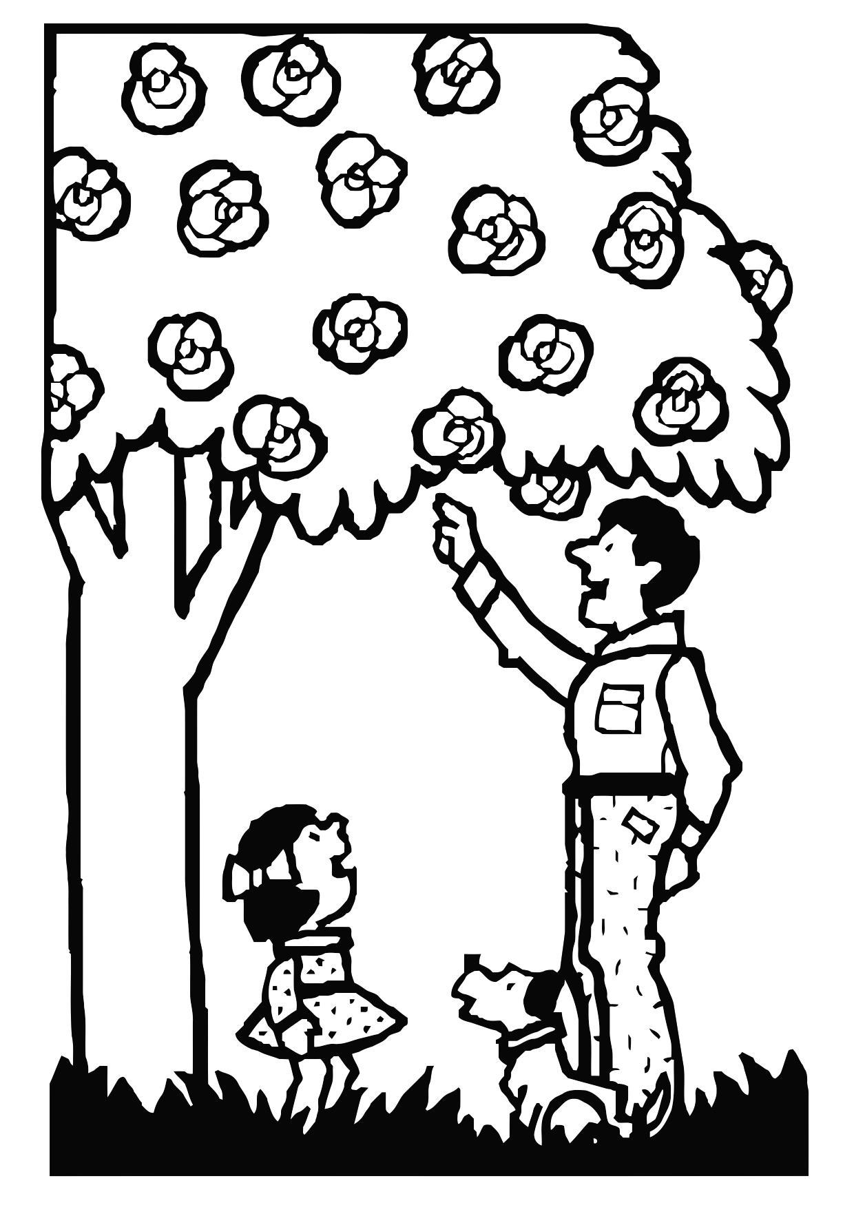1240x1750 Coloring Page Father And Daughter
