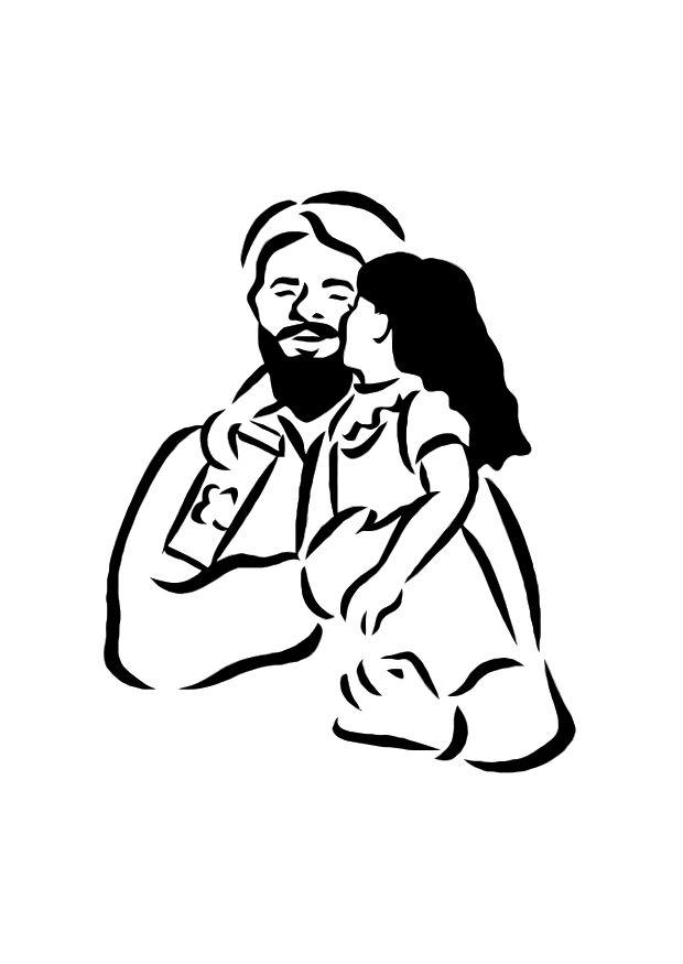 620x875 Coloring Page Father And Daughter