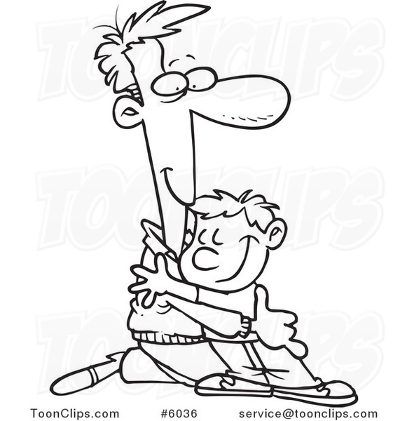 coloring pages achan s sin - father and son drawing at free for personal use father and son drawing of your