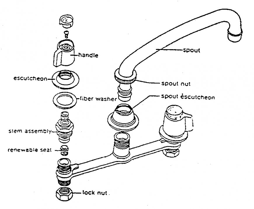 Faucet Drawing At Getdrawings Free Download