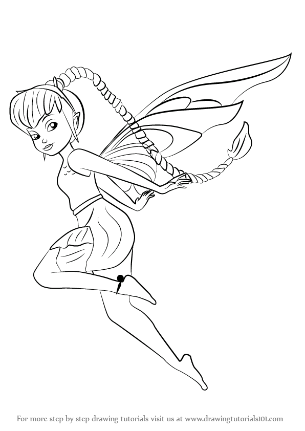 596x842 Learn How To Draw Fawn From Tinker Bell (Tinker Bell) Step By Step