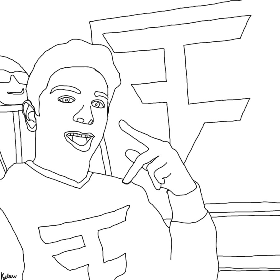 900x900 Faze Rug Coloring Book Page