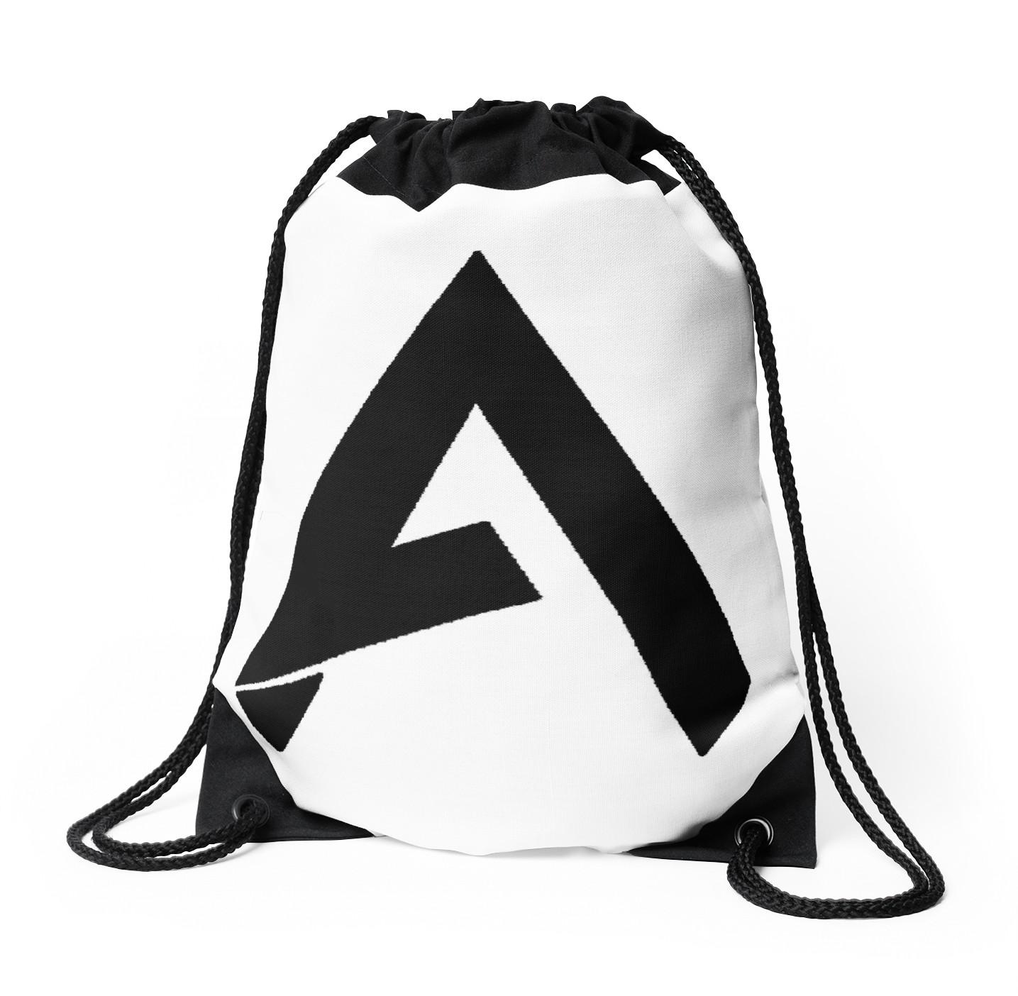 1435x1404 New Faze Apex (Black) Logo!! Drawstring Bags By Codcommunity