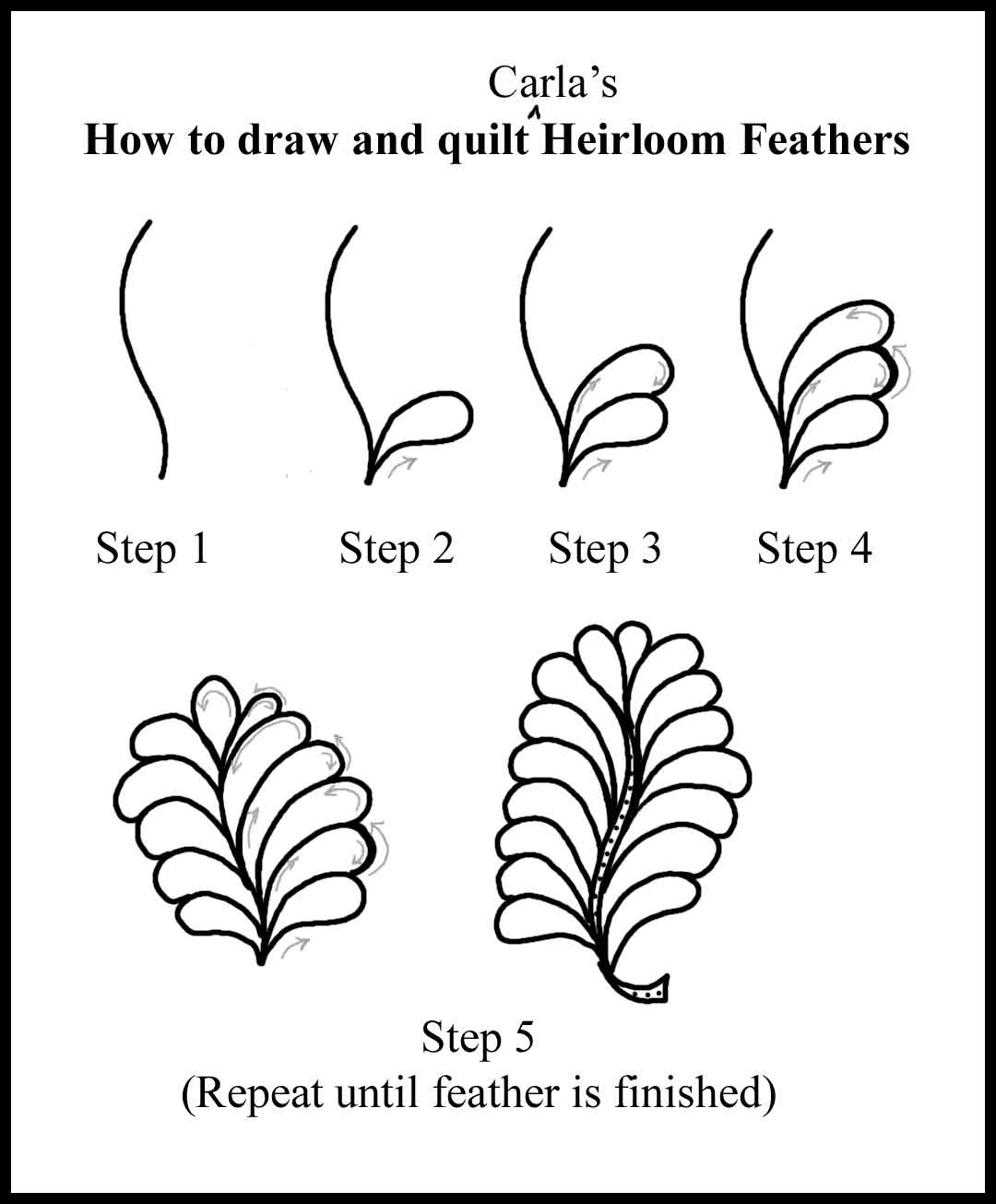 1080x1305 How To Quilt Various Feathers, Etc. Carla Barrett