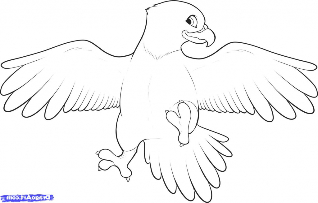 1024x656 Simple Eagle Drawing
