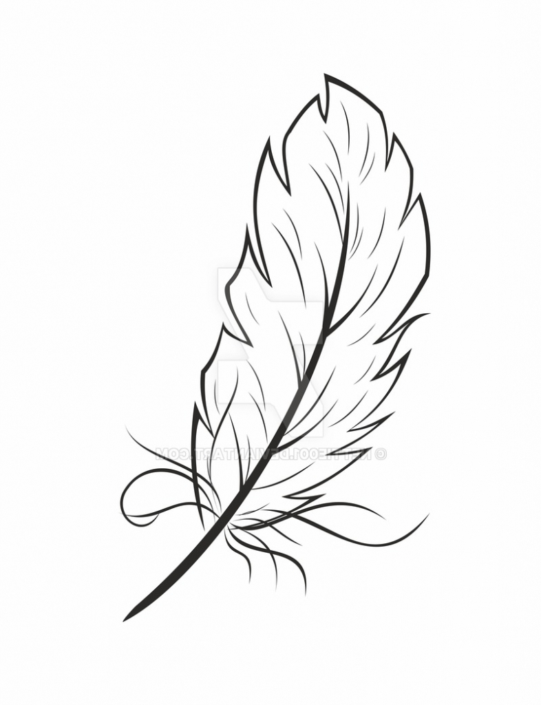 786x1024 Simple Feather Drawing Feather Graphic Nettie001