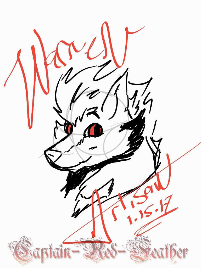 768x1024 Warren Simple Sketch By Captain Red Feather