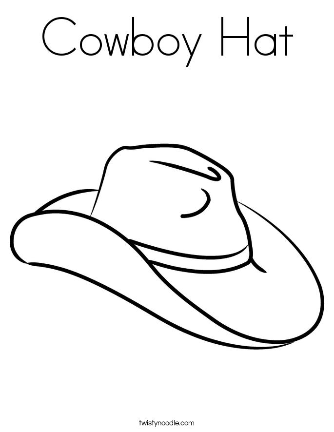 685x886 Cowboy Hat Coloring Page