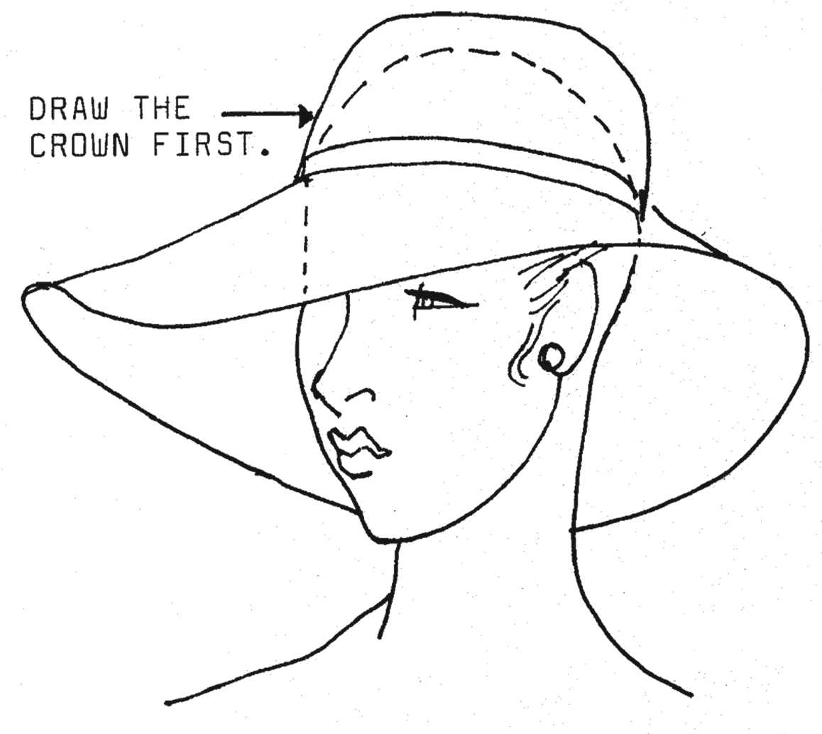 1158x1034 Drawing Fashion Hats Justine Limpus Parish's Blog