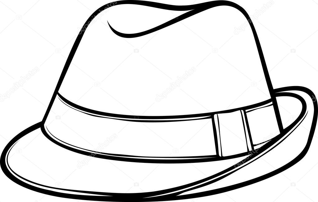 1023x650 Fedora Hat (Men's Classic Fedora) Stock Vector Tribaliumivanka