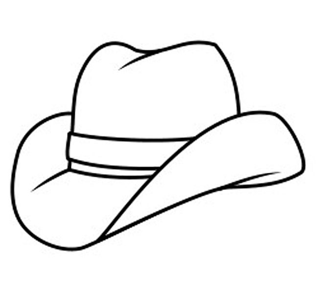 650x600 Hat For Colouring Coloring Page