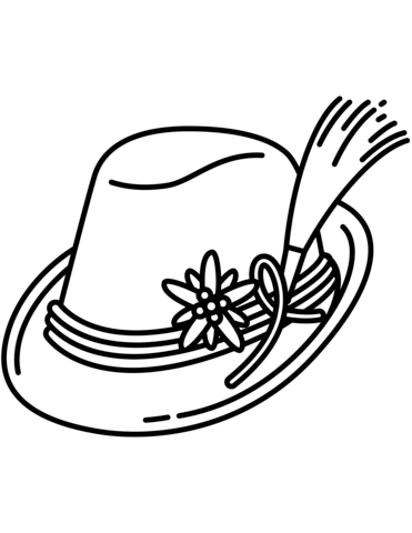 371x480 Bavarian Hat Coloring Page Free Printable Pages