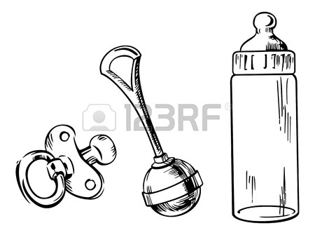 Feeding Bottle Drawing