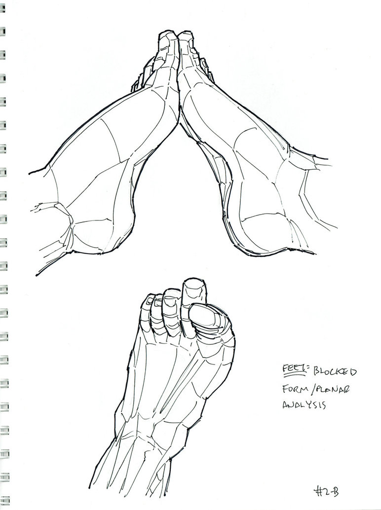 Feet Line Drawing