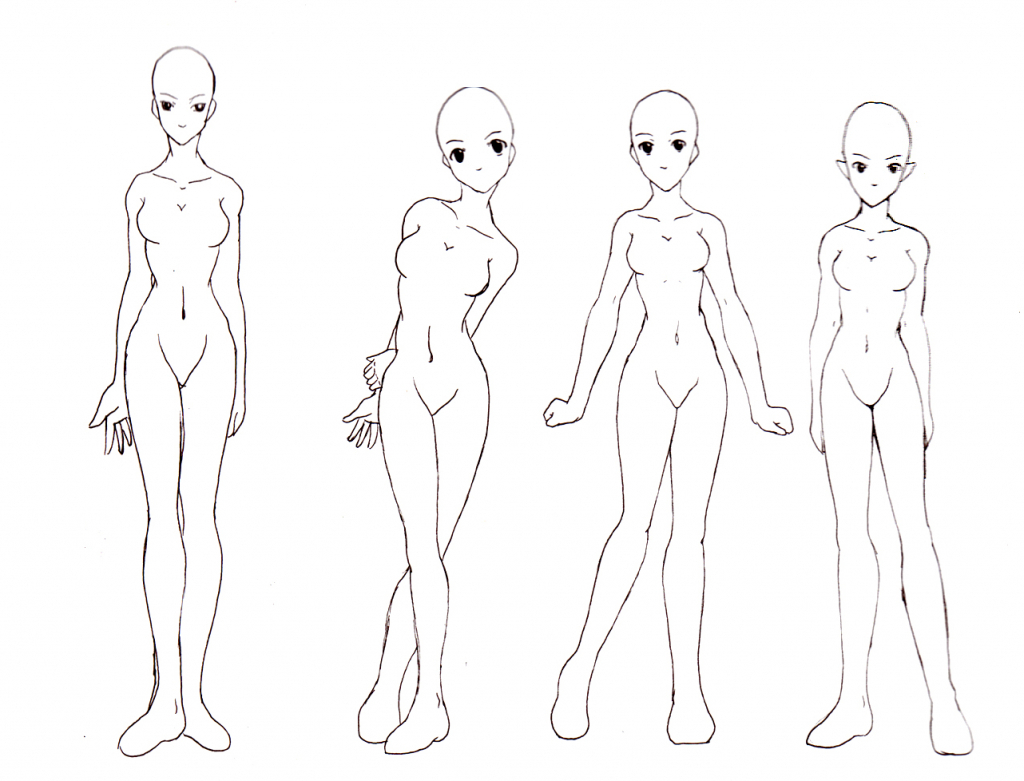1024x781 Draw Anime Girl Body Draw Anime Girl Body