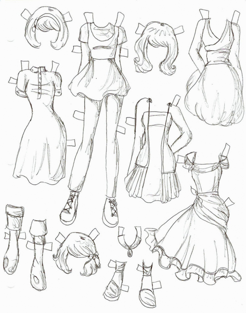 806x1024 How To Draw Girls Manga Clothes Best Drawing Anime Clothes