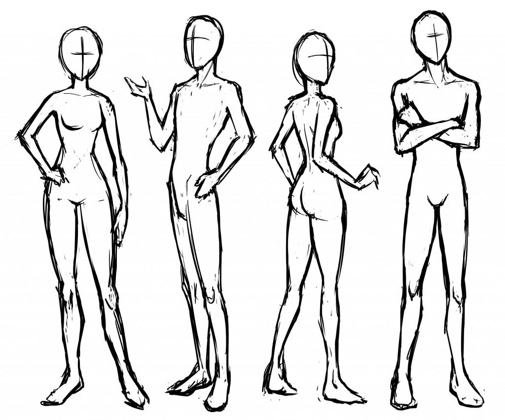 1024x851 Manga Basic Poses Standing And Sitting Letraset Blog