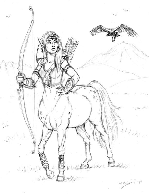 579x755 Centaur Archer By Dustmeat