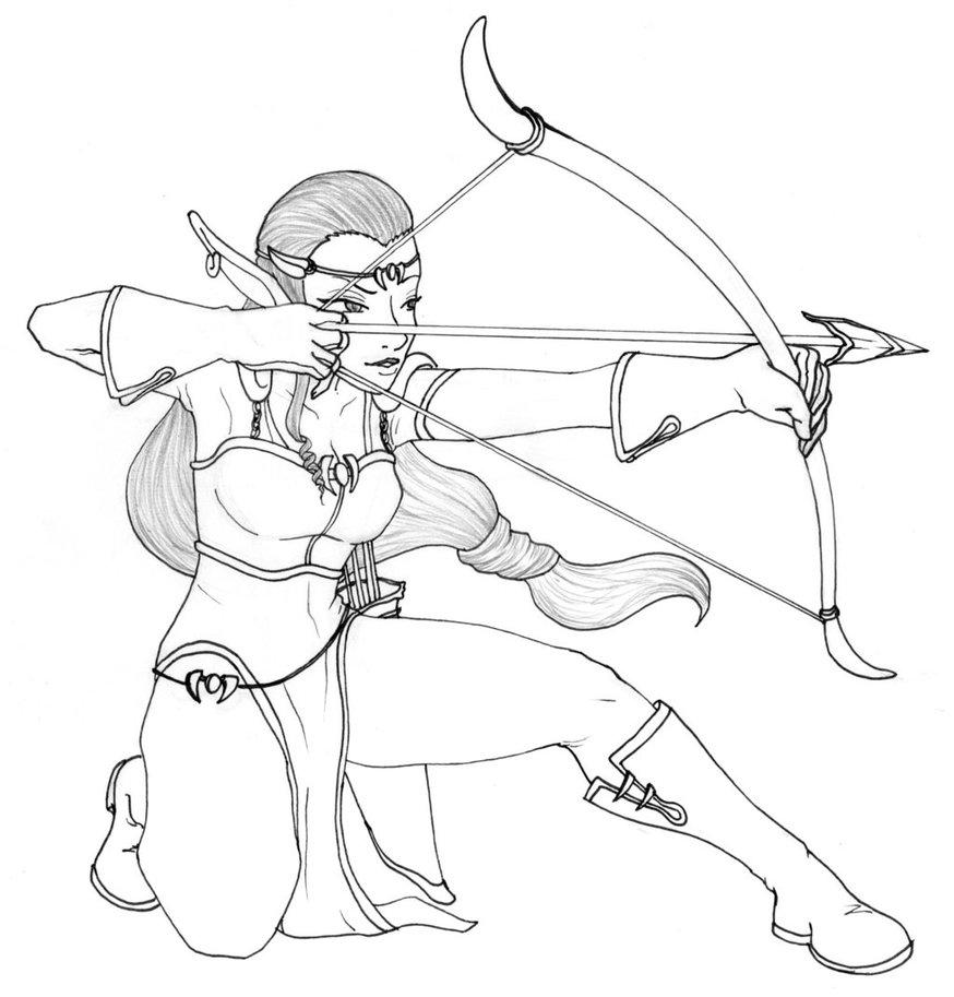 874x913 Elven Archer (Female)