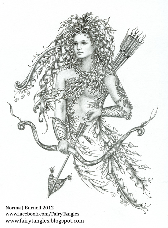 550x747 Fairy Tangles Archeress Number Four