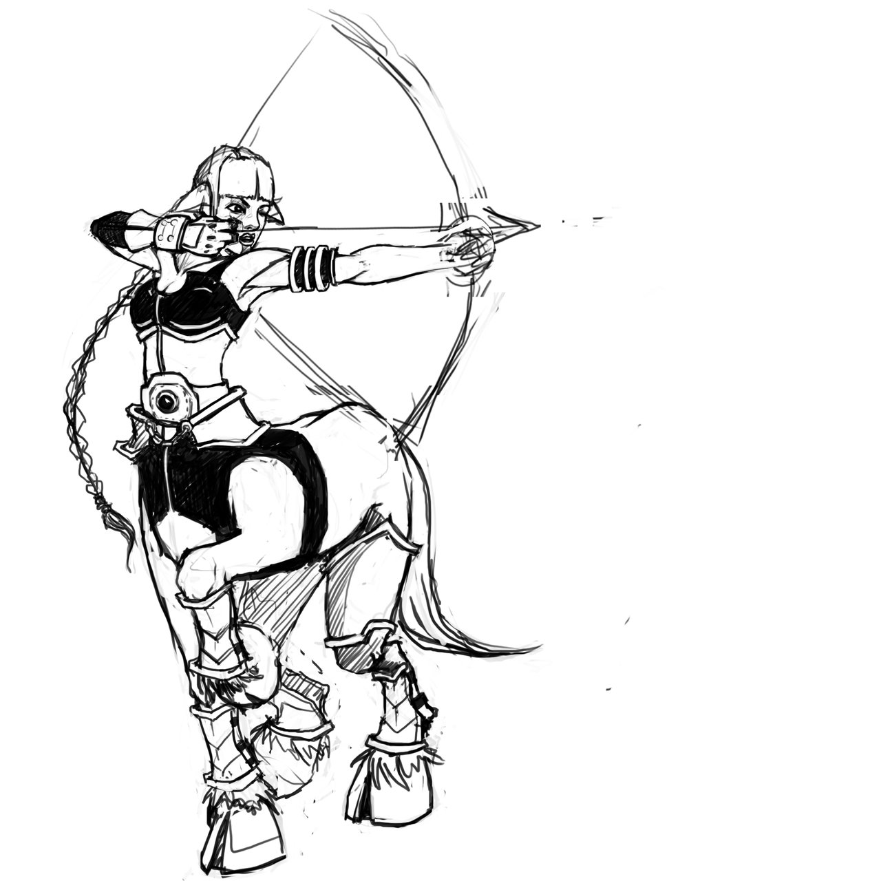 1280x1280 Female Centaur Archer By Eviliori88