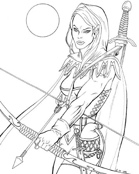 477x600 Female Elven Archer By Xagamus